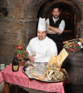 Massimiliano Santini e lo chef Simone Pasquini
